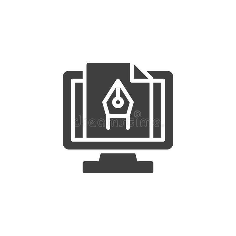 Computer graphics vector icon royalty free illustration