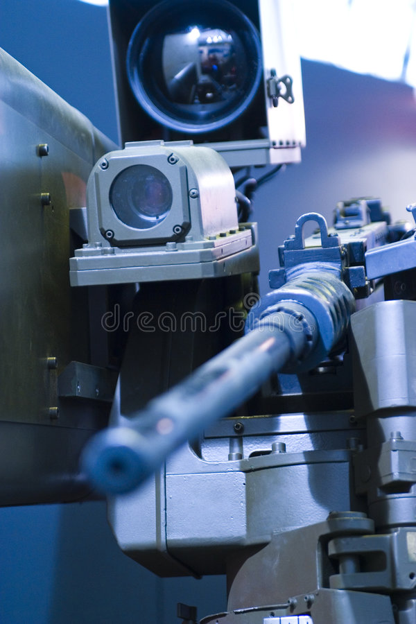 Computer-guided machine gun royalty free stock images