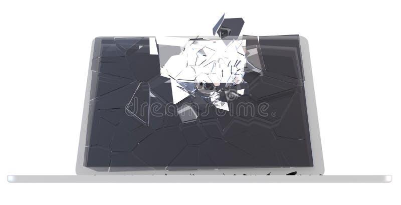Download Computer Hack Concept - Damaged PC Stock Illustration - Image: 16465302