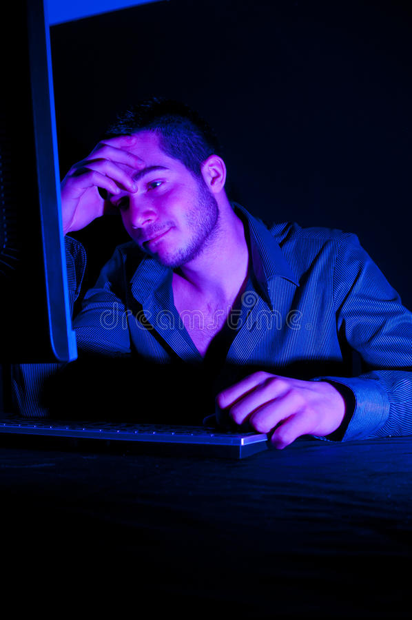 Computer hacker royalty free stock image