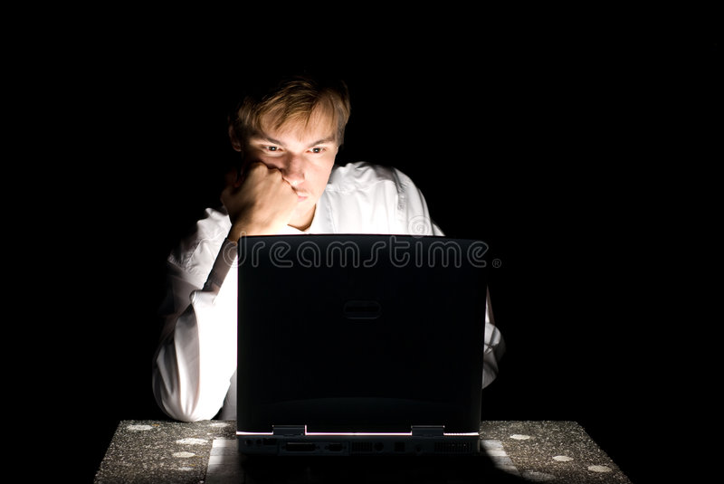Computer hacker royalty free stock photography