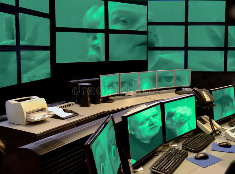 Computer hacker joker playing trick on security system. royalty free stock photos