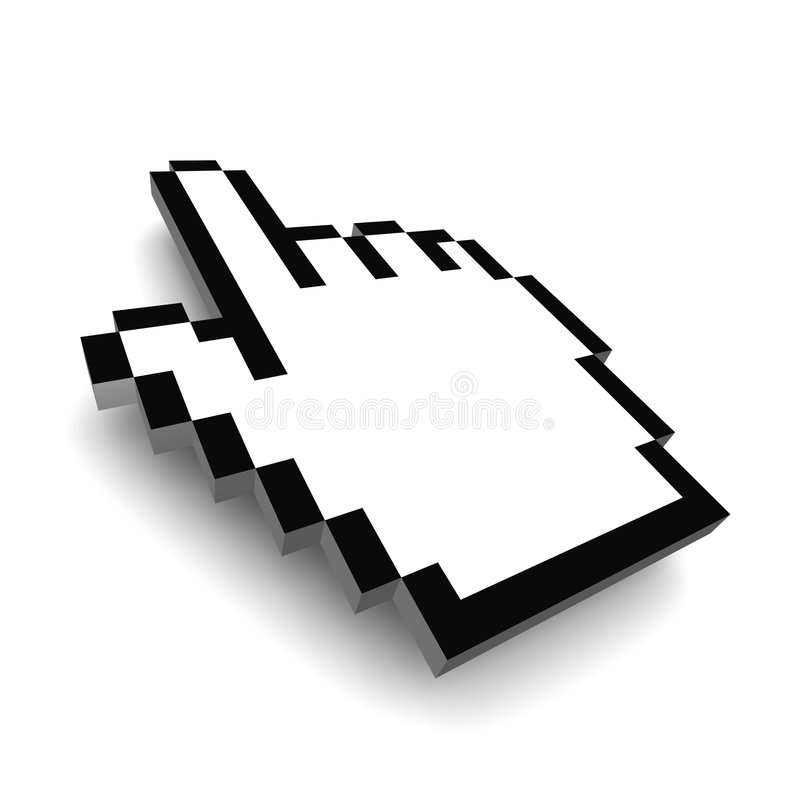 Download Computer hand cursor 3d stock illustration. Illustration of direct - 6629164