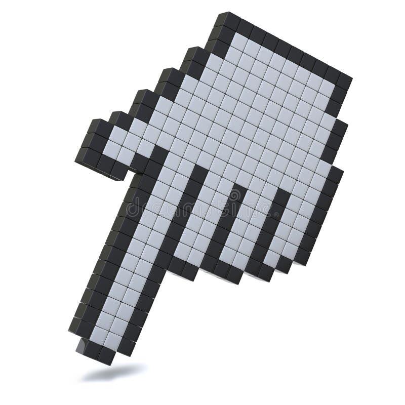 Computer hand cursor icon 3d vector illustration