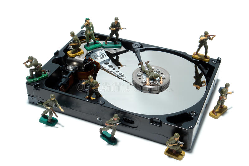 Computer Hard Disc Drive Concept for Protection royalty free stock image