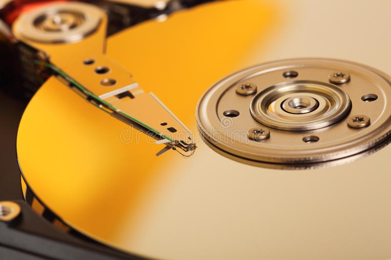 Computer hard drive. Storage computer hard drive for background stock image