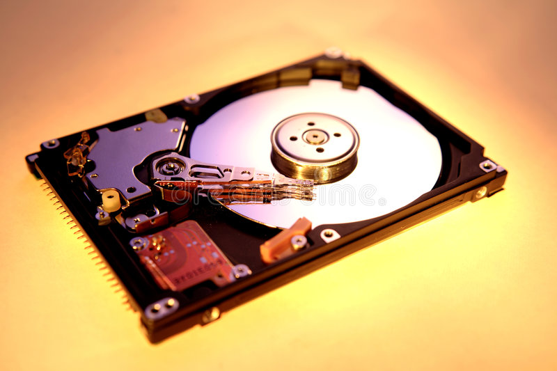 Computer hard-drive. Studio shot of computer hard-drive royalty free stock images