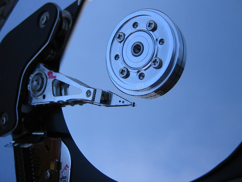 Computer hard drive stock images