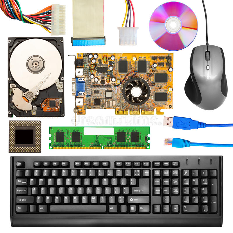 Computer hardware stock images