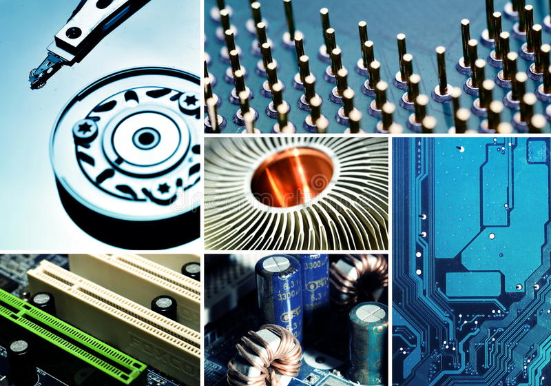 Download Computer Hardware Collage Royalty Free Stock Photography - Image: 33272067