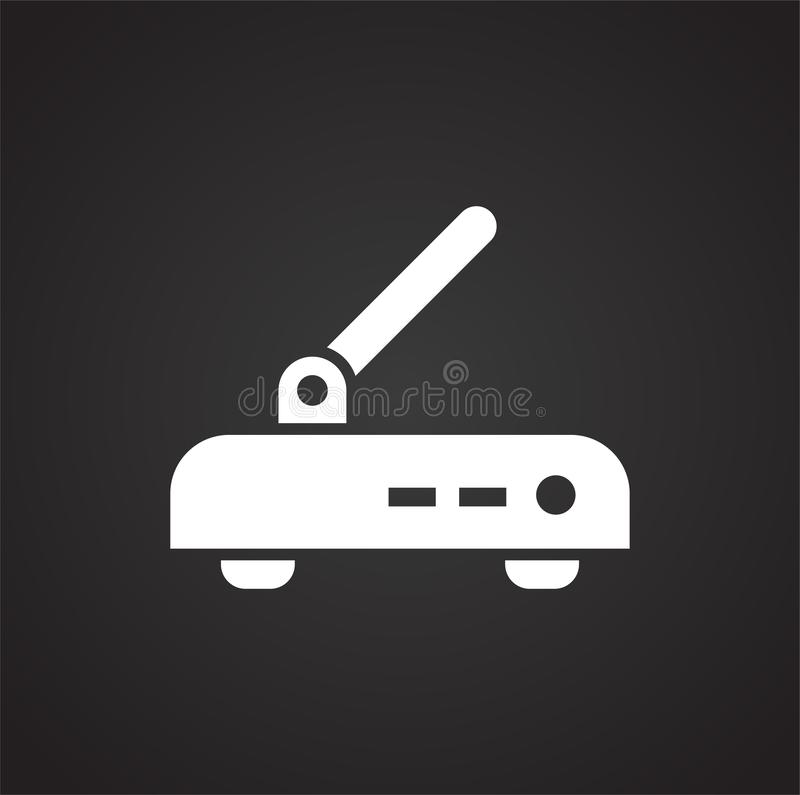 Computer hardware icon on background for graphic and web design. Simple illustration. Internet concept symbol for vector illustration