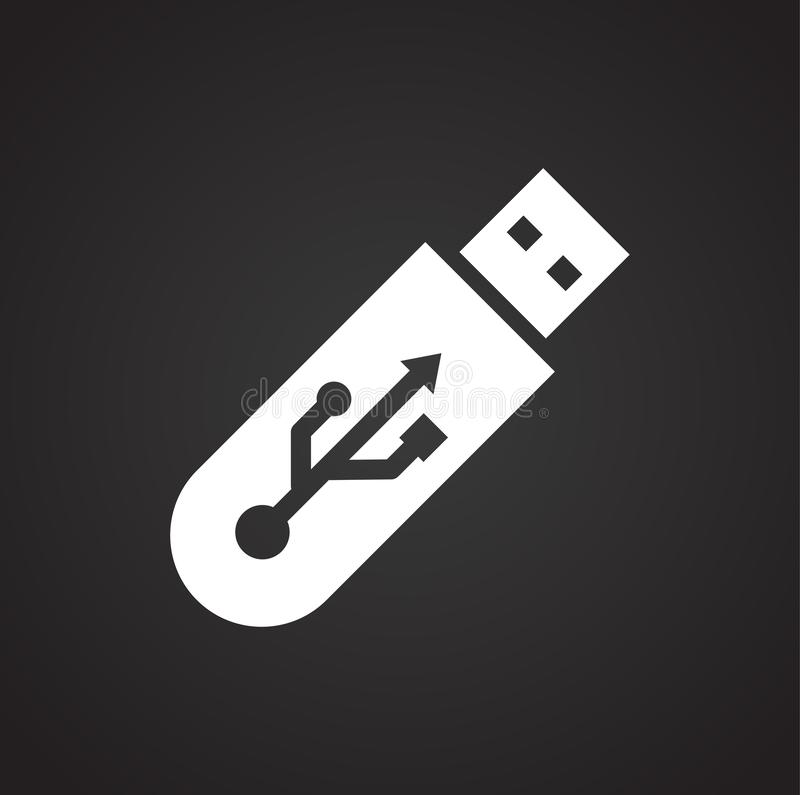 Computer hardware icon on background for graphic and web design. Simple illustration. Internet concept symbol for royalty free illustration