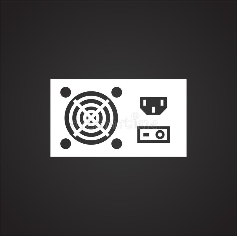 Computer hardware icon on background for graphic and web design. Simple illustration. Internet concept symbol for stock illustration