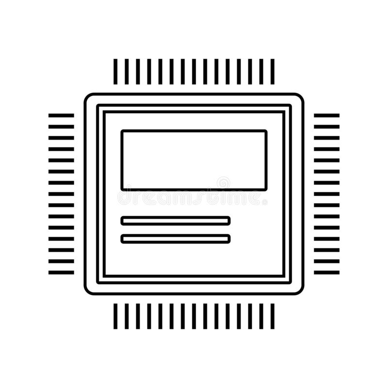 computer hardware icon. Element of cyber security for mobile concept and web apps icon. Thin line icon for website design and vector illustration