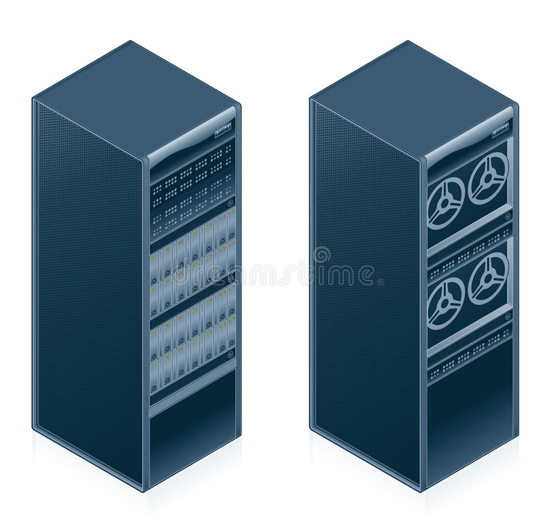 Computer Hardware Icons Set - Design Elements 55l. It's a high resolution image with CLIPPING PATH for easy remove unwanted shadows underneath royalty free illustration