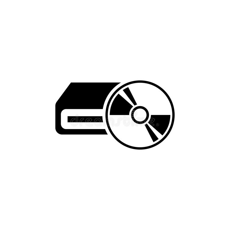 Computer Hardware, Portable Optical Drive Flat Vector Icon vector illustration