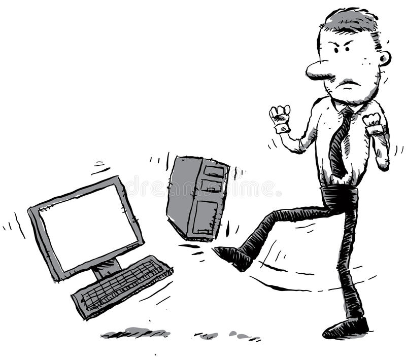 Download Computer Hater stock illustration. Image of standing - 22416073