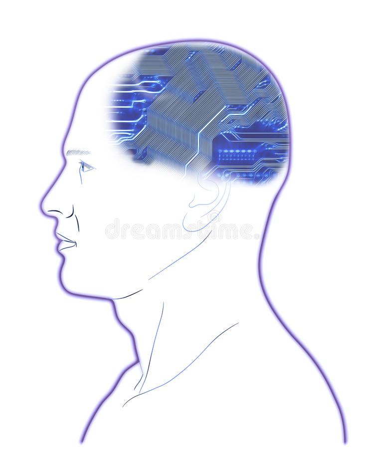 Download Computer In Head stock illustration. Illustration of circuit - 27906459