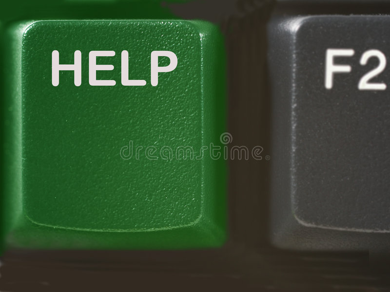 Download Computer Help Key In Green Colors Stock Image - Image: 4125313
