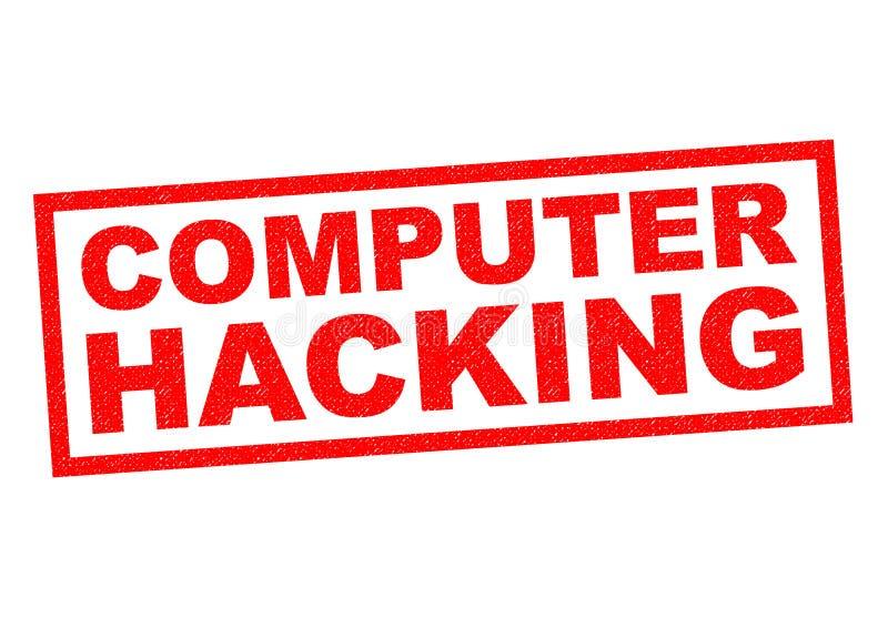 Computer het binnendringen in een beveiligd computersysteem vector illustratie