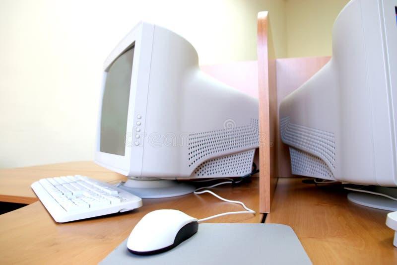 Computer in het klaslokaal royalty-vrije stock foto's