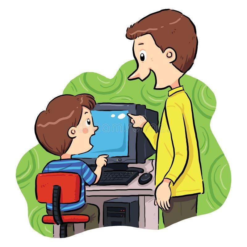 Computer het Leren royalty-vrije illustratie