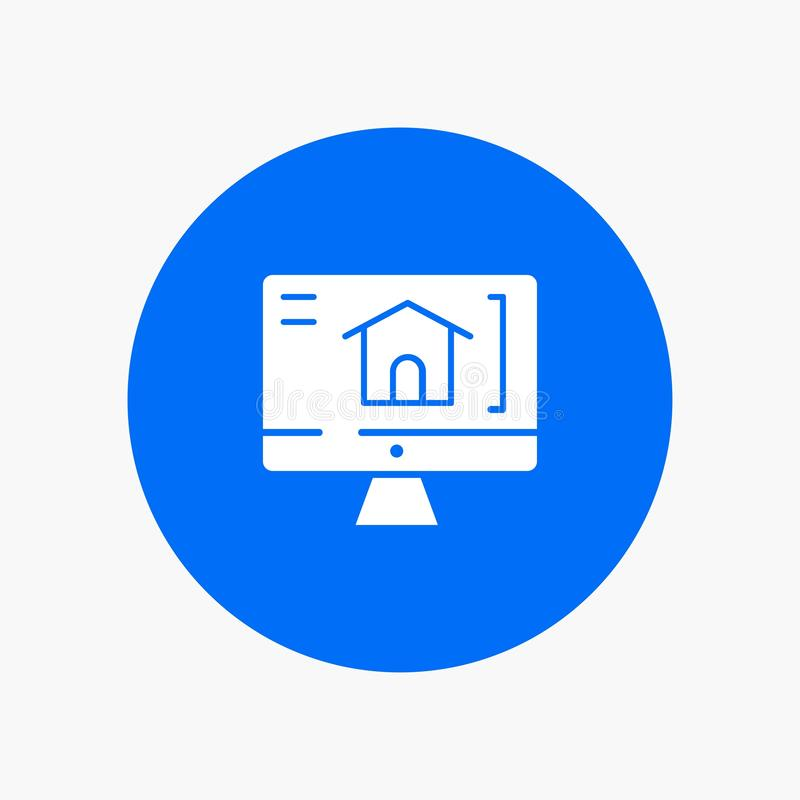 Computer, Home, House royalty free illustration