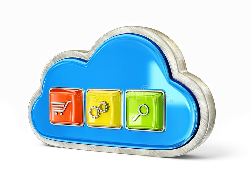 Download Computer icon stock illustration. Image of button, icon - 25929841