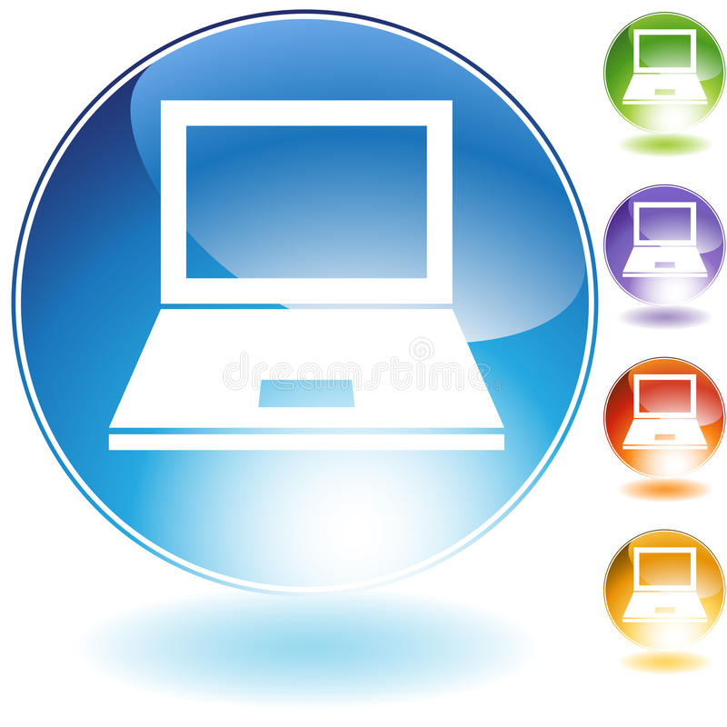 Computer Icon. In multi colors royalty free illustration