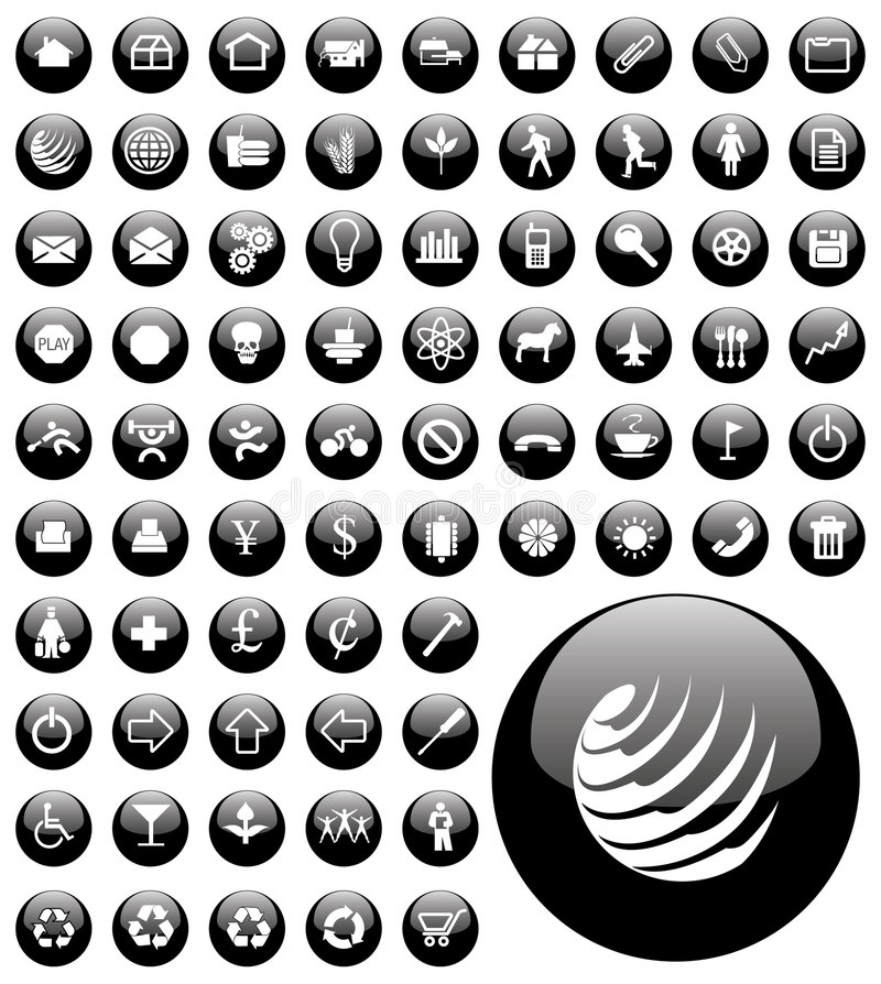 Computer icon buttons royalty free illustration