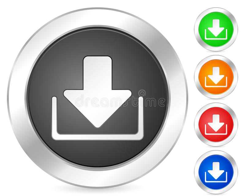 Download Computer icon download stock vector. Image of green, design - 9678120