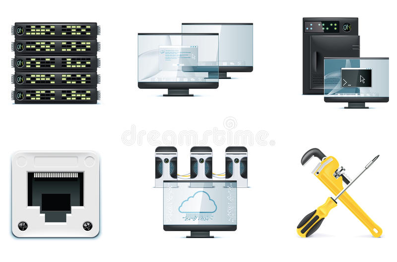 Computer icon set. Part 2 royalty free illustration