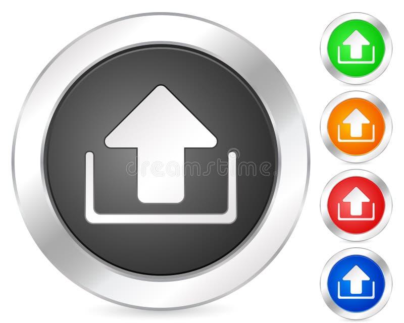 Computer icon upload. Computer circle icon set. Vector illustration vector illustration