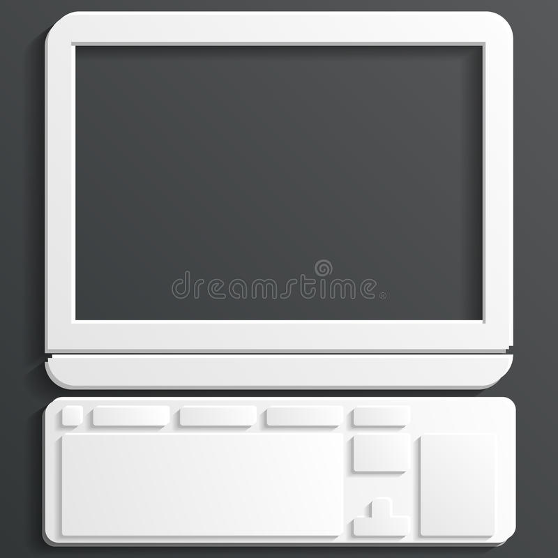 Download Computer icon vector stock vector. Illustration of device - 33671910