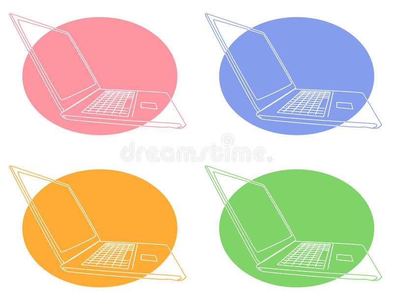 Download Computer icons stock vector. Illustration of colours - 10163828