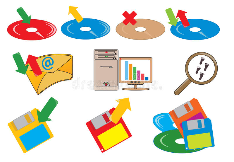 Computer icons. Illustration for you design vector illustration