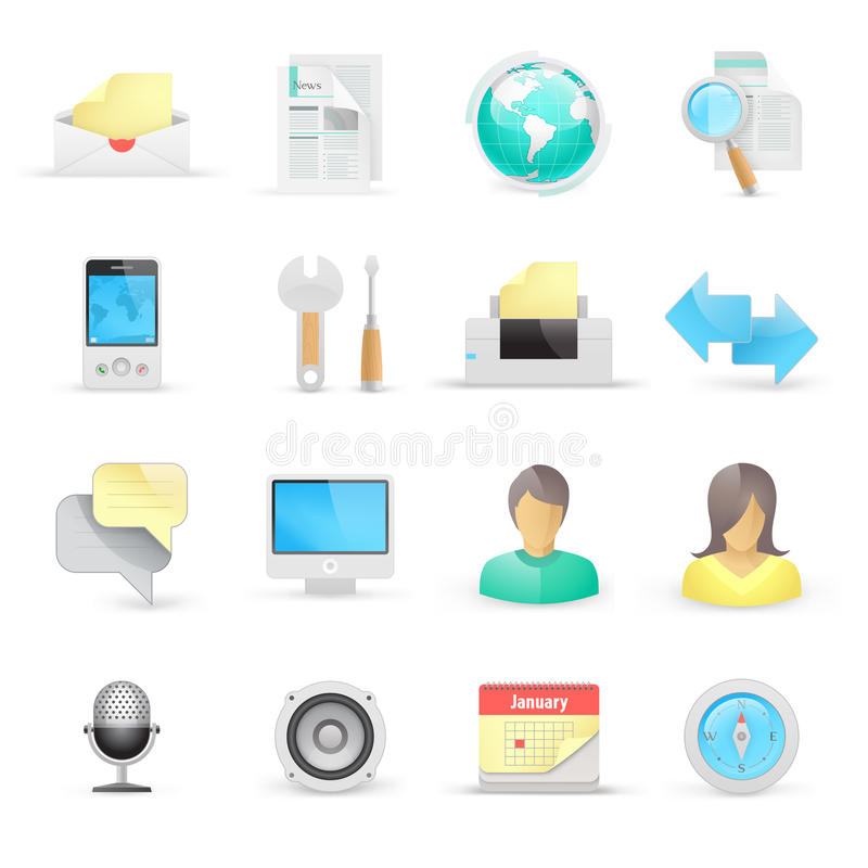 Computer icons. On a white background vector illustration