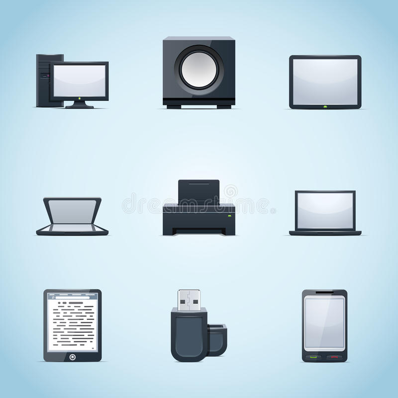 Download Computer icons stock vector. Illustration of peripherals - 22578602
