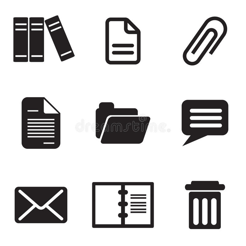 Computer icons. Set vector computer icons of email message and letter stock illustration