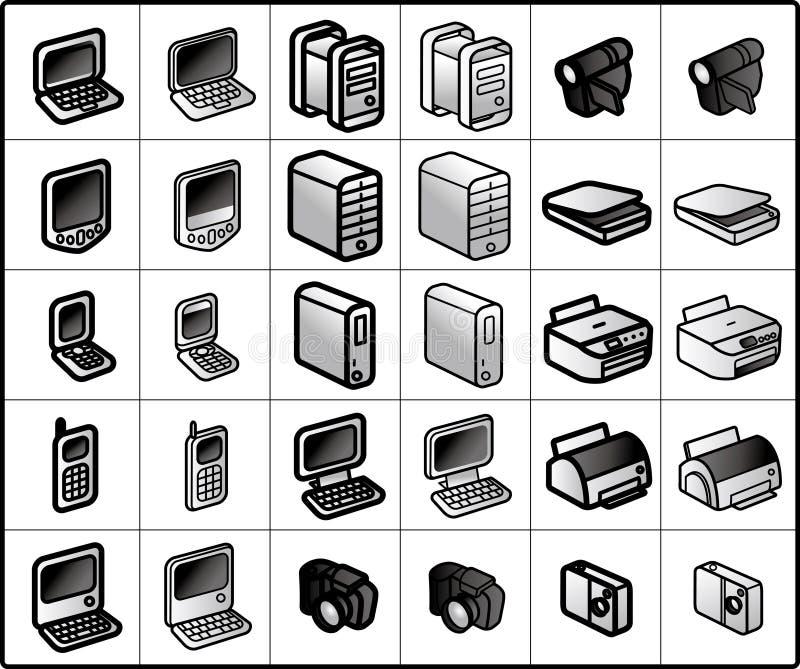 Computer-Ikonen vektor abbildung