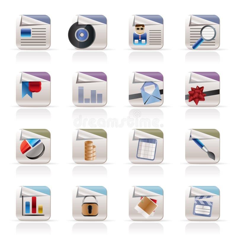Computer-Ikonen - Dateiformate lizenzfreie abbildung