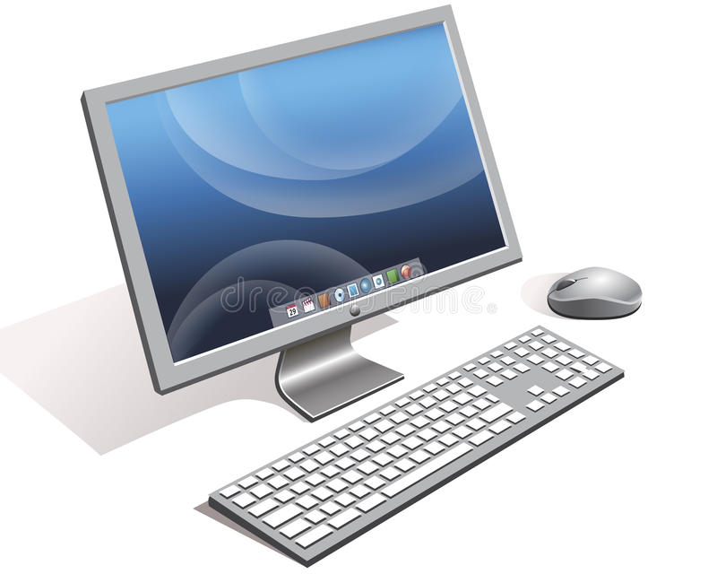 Computer. Included computer monitor with keyboard and mouse