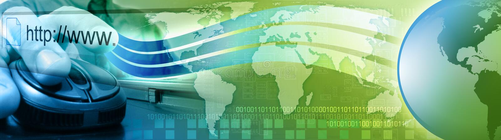 Download Computer Internet Mouse Man With Earth Stock Illustration - Image: 12705521