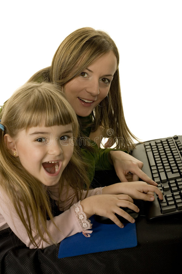 Computer joy stock photos