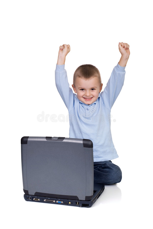 Download Computer joy stock photo. Image of notebook, child, laptop - 3745128