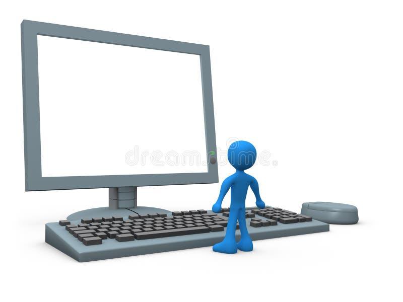 Computer-Kerl lizenzfreie abbildung