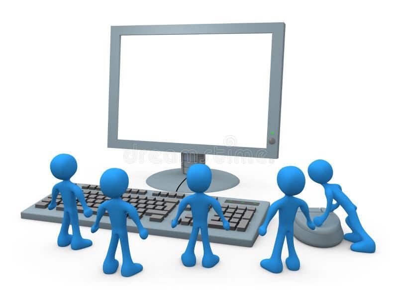 Computer-Kerle lizenzfreie abbildung