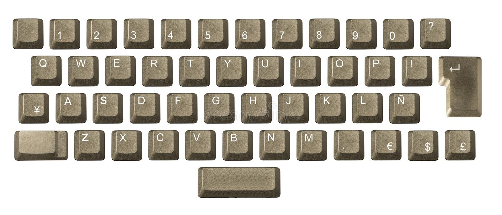Download Computer Key In A Keyboard Royalty Free Stock Image - Image: 5280026