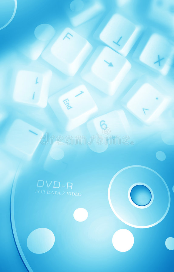 Free Computer Key With DVD Royalty Free Stock Photography - 8597227