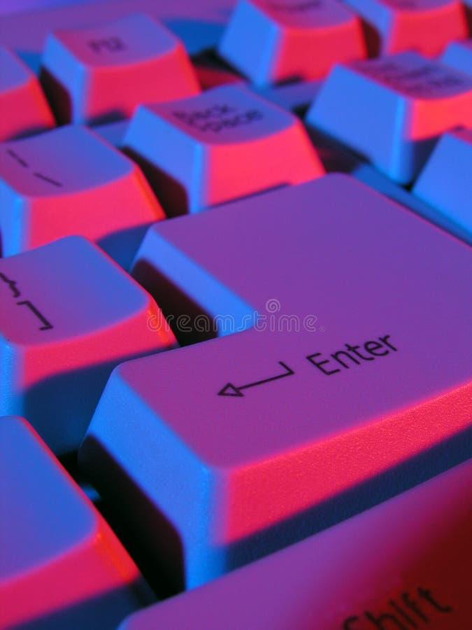 Computer keyboard. Close-up
